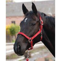 ELDORADO Nylonhalfter Lea - rot - Vollblut Halfter für Pferde Pferdehalfter