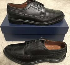 Brooks Brothers Men's Wing Tip Black Leather Dress Shoes New Size 11.5D