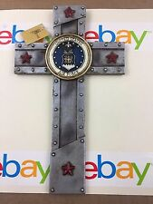 """U.S AIR FORCE WITH EMBLEM WALL CROSS 12""""X7"""" NEW IN BOX"""