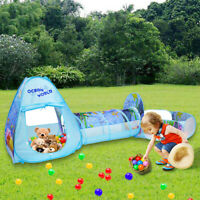 Portable Children's Tent With Tunnel, Ball Pit Game House Indoor Outdoor Picnics