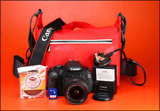 Canon EOS 600D DSLR Camera +18-55mm IS II Zoom Lens kit Only 5,286 Shots & Bag