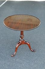 Stickley Mahogany Dish Top End Table With Tripod Base