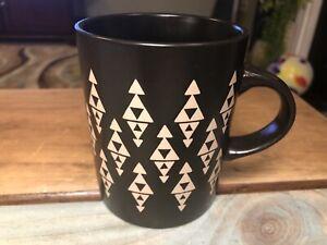Rare Caribou Coffee  Expresso Dark Brown Triangle Design 12 oz Mug 2015