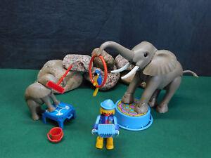 Playmobil Elefanten-Set Zirkus mit Musik-Clown, Papagei u. Zubehör, ohne OVP!