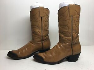 VTG WOMENS UNBRANDED COWBOY LIGHT BROWN BOOTS SIZE 7 B?