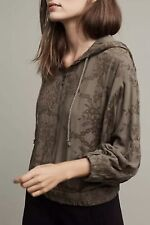 Anthropologie SATURDAY SUNDAY Hoodie EMBROIDERED Zip Up Flowers Jacket NWOT