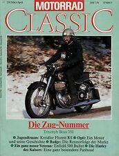 Motorrad Classic 2/91 1991 Enfield Bullet Harley-Davidson FLE Kreidler Florett