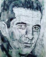 JOHN F. KENNEDY JR. 2   PORTRAIT Turner 2020 Original Ink Zeichnung freihand