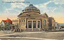 Wichita Falls Texas ME Church Exterior Street View Antique Postcard K26340