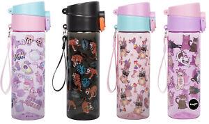 600ml BPA-Free Leakproof Water Bottle for Children Lockable Flip Top Lid Water