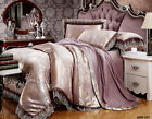 Satin Doona/Quilt Cover Set Queen/King Size New Bed Pillowcases Duvet Cover Sets