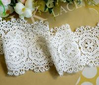 10 cm width Exquisite White Cotton Venise Lace Trim