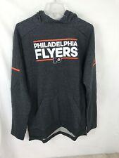 Adidas Mens Medium M Philadelphia Flyers Gray Orange Hoodie Squad Sweatshirt NWT