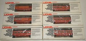 LIONEL 6-9589 9590 9591 9592 9593 7204 SOUTHERN PACIFIC SP DAYLIGHT 6 PASS. CARS