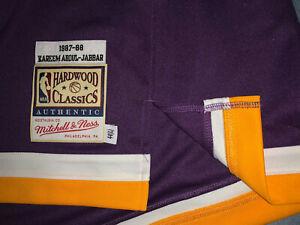 Mitchell Ness Lakers Kareem Abdul-Jabbar 1987-88 Authentic Purple Shooting Shirt