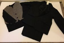 Formal Black Tuxedo 4 piece Dress Suit SIZE 12Mo-2T Boys Suit