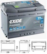 EXIDE EA770 12v Type 067 096 Car Battery 4 Year Warranty EA770_YBX5096
