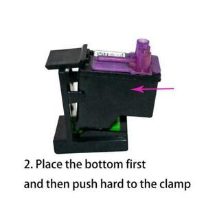 Cartridge Holder Set For HP Ink Refill Cartridge Clip-on HOT Syringe P6B3