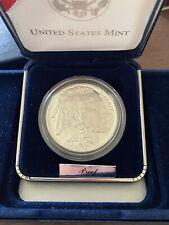 New listing 2001 American Buffalo Commemorative Silver Proof Dollar Ogp & Coa