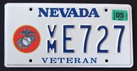 "NEVADA "" U.S. MARINE CORPS VETERAN ""  NV Military Specialty License Plate"
