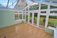 More details for conservatory for sale white upvc with built in blinds and french doors