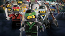 Ninja warriors the lego ninjago movie Silk poster wallpaper 24 X 13 inches