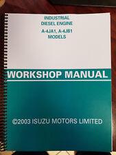 ISUZU A-4JA1 A-4JB1 Diesel Engine Repair Shop Service Manual workshop overhaul