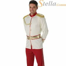 Mens Prince Charming Disney Fairytale Book Day Adults Fancy Dress Costume Outfit