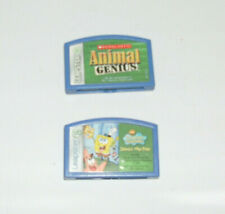 Leap Frog Leapster Lot of 2 Game Cartridges SpongeBob Animal Genius