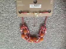 marks and Spencer. M&s. Orange and purple beaded necklace. New.