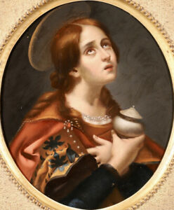 EARLY 19th CENTURY ITALIAN OIL ON PANEL - MARY MAGDALENE - AFTER CARLO DOLCI