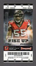 2010 NFL Atlanta Falcons vs Tampa Bay Buccaneers 11/7 Full Ticket JOHN ABRAHAM