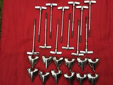 Vintage Premier Olympic Drum Parts  - 12 x Bass Drum Claws and T Tension Rods