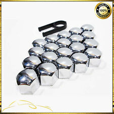 20x 17MM SILVER CAR WHEEL NUT BOLT COVERS CAPS FOR PEUGEOT 207 307 407 A61
