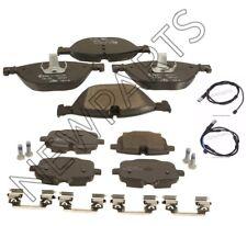 For BMW 550i 535i F10 11 Front & Rear Disc Brake Pad Set w/ Sensors Ate Ceramic