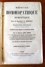 MEDECINE HOMEOPATHIQUE DOMESTIQUE DR C.HERING 6eme ed préface Dr L. SIMON 1873