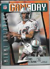 Miami Dolphins Oct 15 1995 VS Saints Game Day Magzine Dan Marino on cover