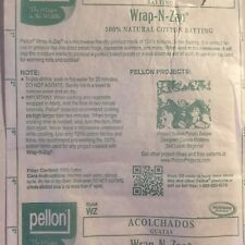 Pellon Wrap N Zap 100% cotton batting yard 22 inch wide x 36 inch long microwave