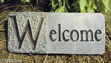 plastic welcome plaque mold plaster concrete mould