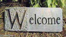 plastic welcome plaque mold plaster concrete mould