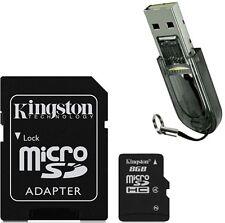 Kingston MicroSD MicroSDHC TF Memory Card 8GB 8G Class4 + R2