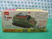 Dinky Toys 353 - UFO Shado 2 mobil handsignierte by und Bischof - MIB seltene