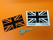 Union Jack Drapeau Britannique Noir & Clair autocollants JAGUAR BENTLEY