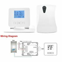 IP21 LCD Wireless Digital Room Thermostat Boiler/Gas/Electric Heating System RF
