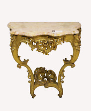 A BEAUTIFUL MARBLE TOP GILT CONSOLE TABLE
