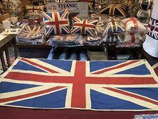 More details for stunning marine union jack textile flag (  76x152cms )