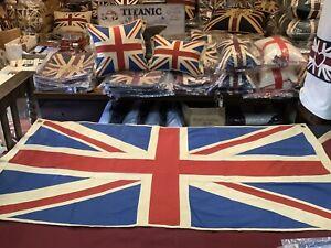Stunning Marine Union Jack Textile Flag (  76x152cms )
