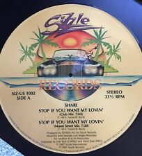 SIZZLE RECORDS Shari Stop If You Want My Lovin' Vinyl LP Record Picture Disc