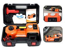 5T LED Flashlight Safe Hammer 12V Electric Hydraulic Jack Car Repair Tool Kit