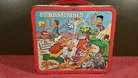 Nice Vintage 1971 The Flintstones Cartoon Metal Lunchbox Bam Bam Pebbles Rare